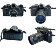 Canon AE-1 programa odosobnienie w wieloskładnikowym widoku Obraz Stock