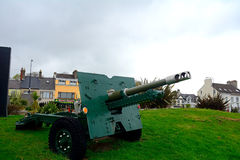 Canon al memoriale di guerra mondiale, Carrickfergus, Irlanda del Nord Fotografie Stock Libere da Diritti