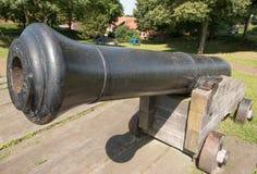 Canon alla fortezza Bourtange Immagini Stock Libere da Diritti