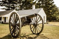 Canon antique d'armée d'Etats-Unis Photo stock