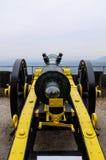 Canon antique dans le château Koenigsstein photo libre de droits