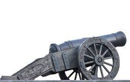 Canon antique de fer de moulage Photo libre de droits