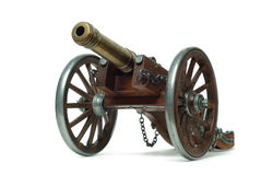 Canon antique sur des roues Photos libres de droits