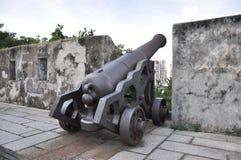 Canon artillery. At city wall Stock Photos