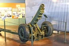 Canon au musée de la bataille de la Normandie. images libres de droits