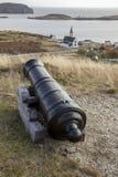 Canon auf Gewehr-Hügel von Dreiheit bellen, Neufundland, Kanada lizenzfreie stockfotografie