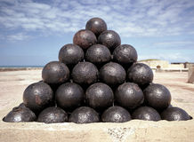 Canon Balls royalty free stock images