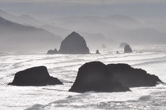 Canon Beach in mist Stock Image