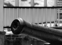 Canon blisko nelsonu dockyard w Angielskim schronieniu Obrazy Stock