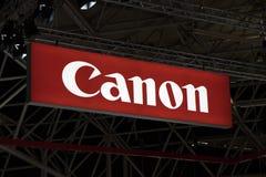 Canon bokstäver på en skärm Arkivfoton