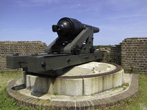 Cannon. S on top of Fort Pulaski National Monument on Cockspur Island in the Savannah River, Georgia, USA Royalty Free Stock Images