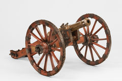 Cannon on a carriage Stock Images