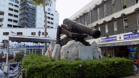 Canon in Casemates square. Canon in Casemates  square, Gibraltar, Europe Royalty Free Stock Photos