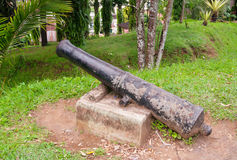 Canon chez Fort De Bukittinggi Île de Sumatra l'indonésie Photographie stock libre de droits