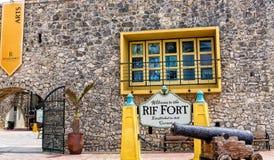 Canon chez Rif Fort en le Curaçao images stock