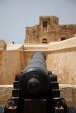 Canon am cittadella in Victoria Gozo Stockfotos