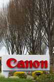 Canon Corporate Headquarters Sign Royalty Free Stock Image