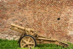 Canon d'Allemand de la deuxième guerre mondiale Image libre de droits