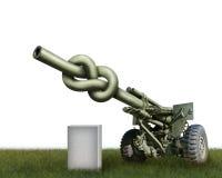 Canon d'artillerie Images libres de droits