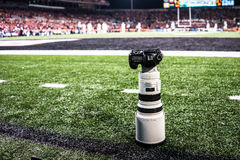 Canon 5D con 300m m 2 lente 8L Fotografía de archivo