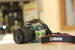 Canon 1300D DSLR Camera Stock Photo