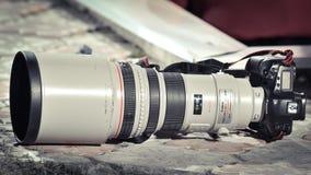 Canon 1D FLÄCK III, yrkesmässig kamera Arkivbild