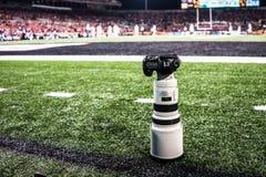 Canon 5D met 300mm 2 8L lens Stock Fotografie
