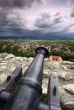 Canon with dark clouds Royalty Free Stock Image