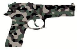 Canon de camouflage Photographie stock libre de droits