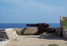 Canon de château de Morro Image libre de droits