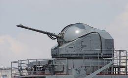 Canon de la nave de batalla Fotografía de archivo libre de regalías