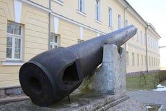 Canon de 19ème siècle dans la forteresse de Daugavpils Images libres de droits