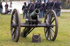 Canon - de Militairen van de Unie stock afbeeldingen