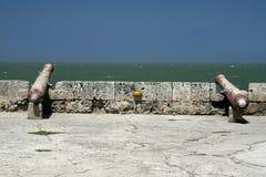 Canon de mur de Carthagène Photos stock