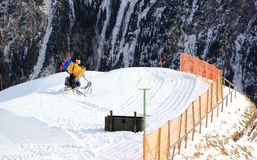 Canon de neige Le Fellhorn en hiver Alpes, Allemagne Photos stock