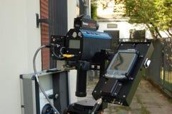 Canon de vitesse de radar à laser Image stock