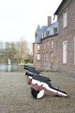 Canon de wasserburg d'anholt de kasteel de schloss de château images libres de droits