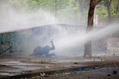 Canon del agua protesta Imagen de archivo