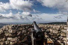 Canon at Eagle Castle, Gaucin, Spain Royalty Free Stock Photography