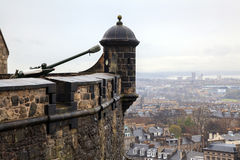 Canon at Edinburgh Castle Royalty Free Stock Photography