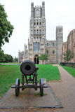 Canon and Ely cathedral Royalty Free Stock Photo