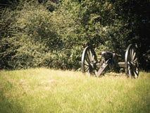Canon em um campo de batalha de Vicksburg Mississippi do monte fotografia de stock royalty free