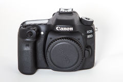 Canon EOS 80D DSLR camera. DSLR Camera - Canon 80D digital camera body Royalty Free Stock Photography