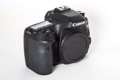 Canon EOS 80D DSLR camera. DSLR Camera - Canon 80D digital camera body Royalty Free Stock Photos