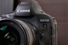 Canon EOS 1Dx mark II stock images