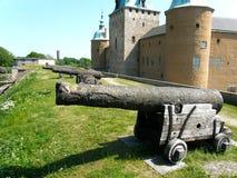 Canon et château Image stock