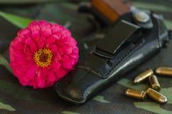 Canon et fleur Image libre de droits