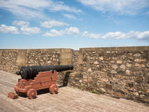 Canon at a Fort Royalty Free Stock Photo
