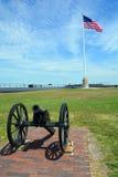 Canon fort Sumter Arkivbild