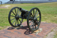 Canon Fort Sumter. CHARLESTON SC 06 25 2016: Canon Fort Sumter is a sea fort in Charleston notable for 2 battles of the American Civil War. was one of a number royalty free stock photos